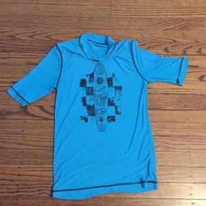 Other - Blue surf board swim shirt